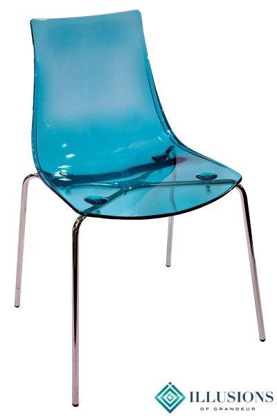 Aqua Acrylic Chairs