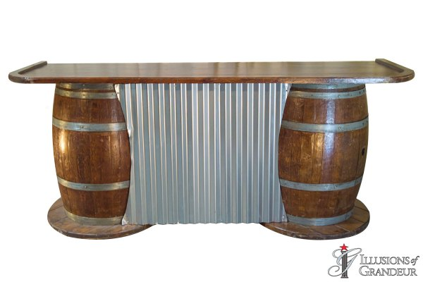 Barrels with Corrugated Metal Bars