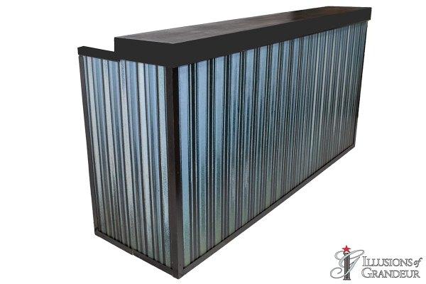 Illuminated Corrugated Metal Bar