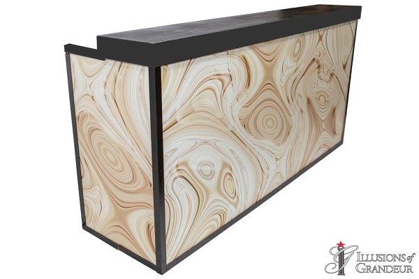 Illuminated Driftwood Bar