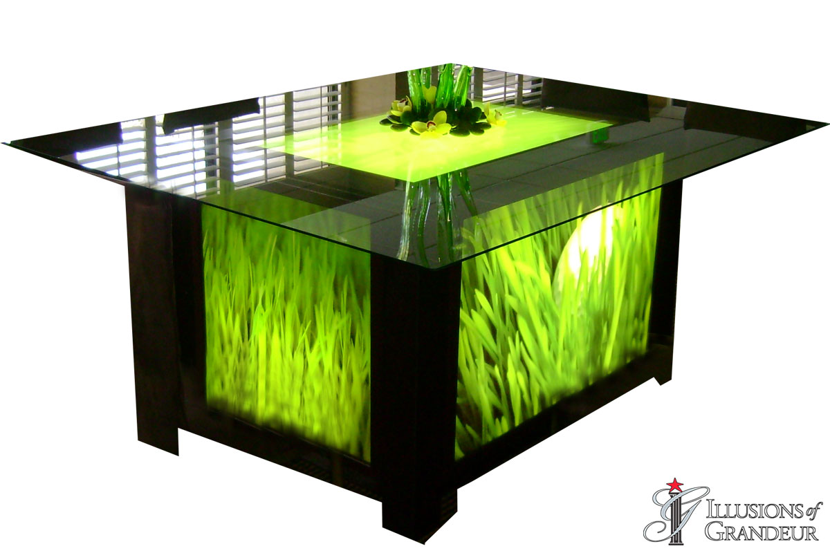Light-Box Seated Dining Tables
