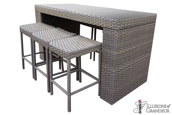 Oasis Bar Table Sets with Backless Bar Stools