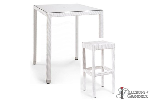 Palmero Bar Table Sets with Backless Bar Stools