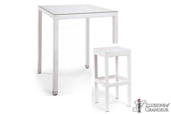 Palmero Bar Table Sets with Backless Bar Stools