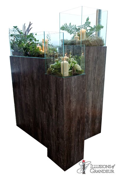 Pedestals with or without Terrariums