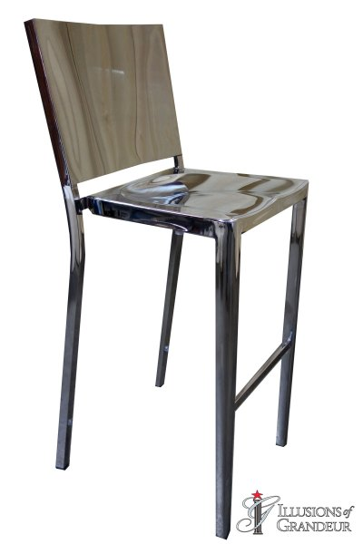 Silver Stainless Steel Bar Stools
