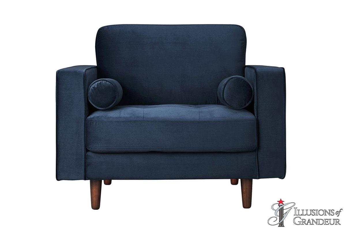 Velvet Blue Lounge Chair