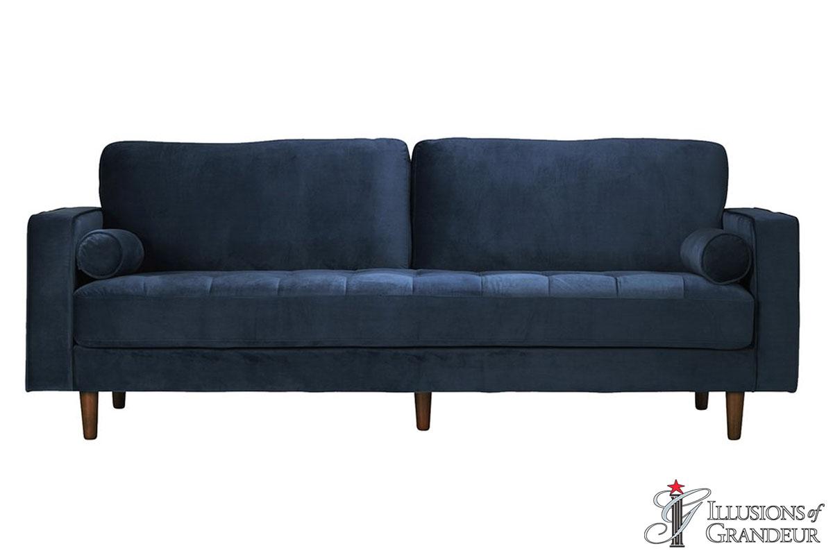 Velvet Blue Sofa