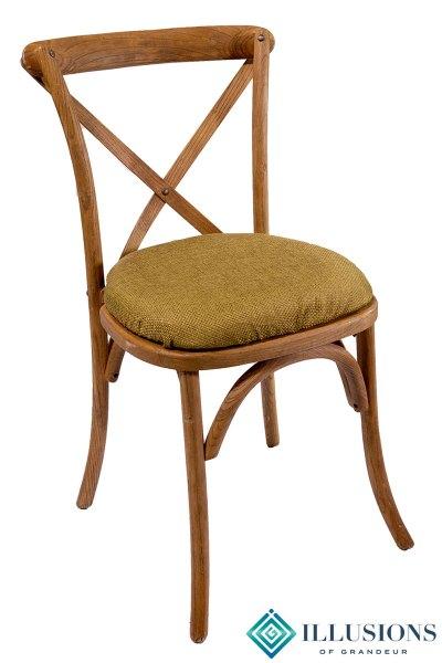 Vineyard Chairs with Green Jute Cushion