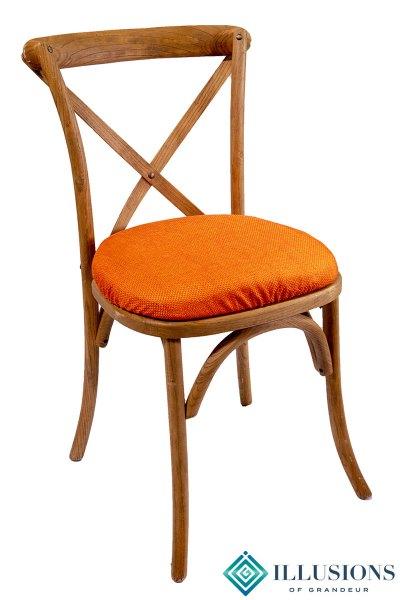 Vineyard Chairs with Orange Jute Cushion