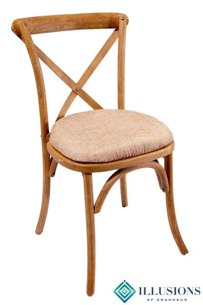 Vineyard Chairs with Natural Jute Cushion