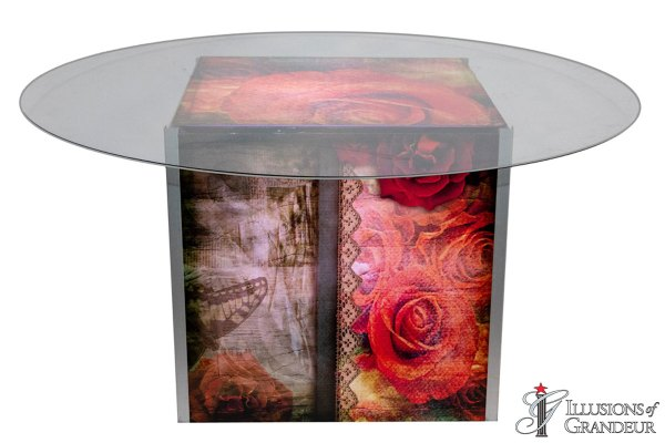 Illuminated Vintage Rose Dining Tables