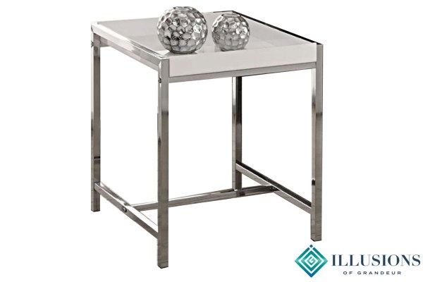Side Tables: White Chrome