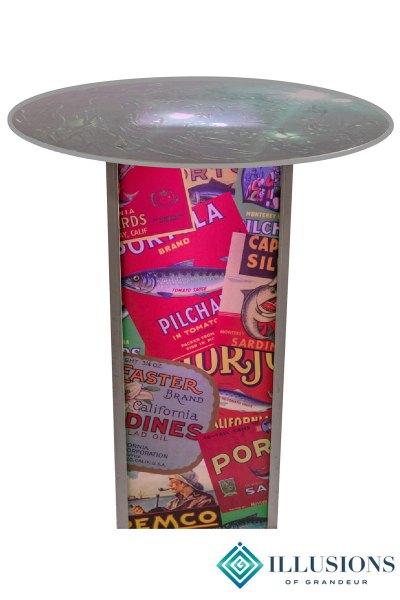 Illuminated Sardine Label Cocktail Tables