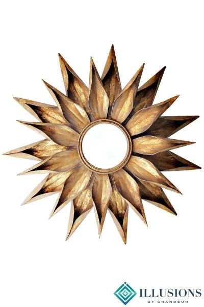 Gold Flower Mirrors