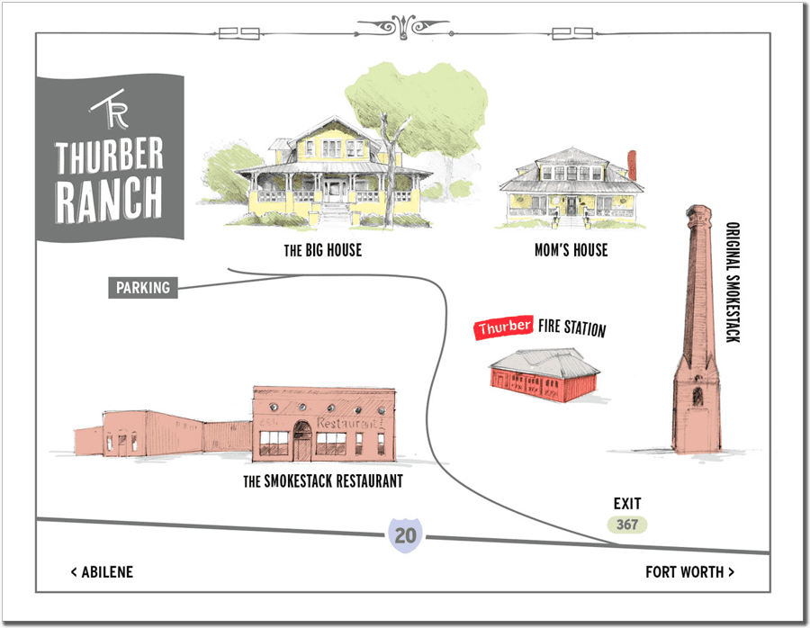 Thurber Texas Illustrated Map