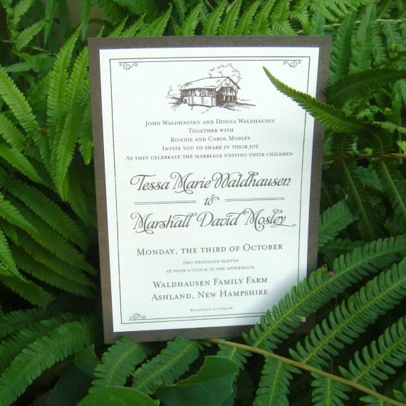 New Hampshire Farm Wedding Invitation