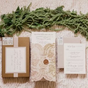 Lace Wedding Watercolor Invitation