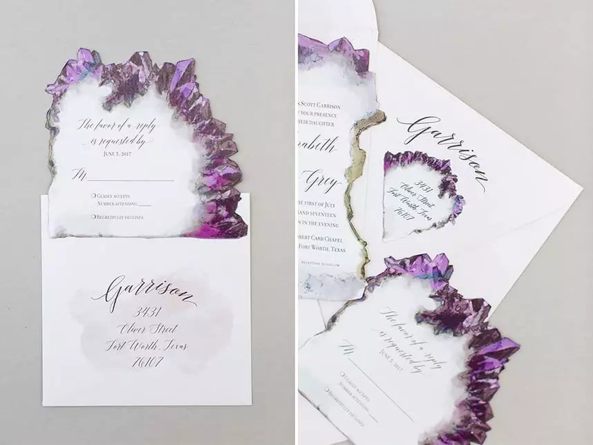 Illustrated Wedding Suite - Amethyst