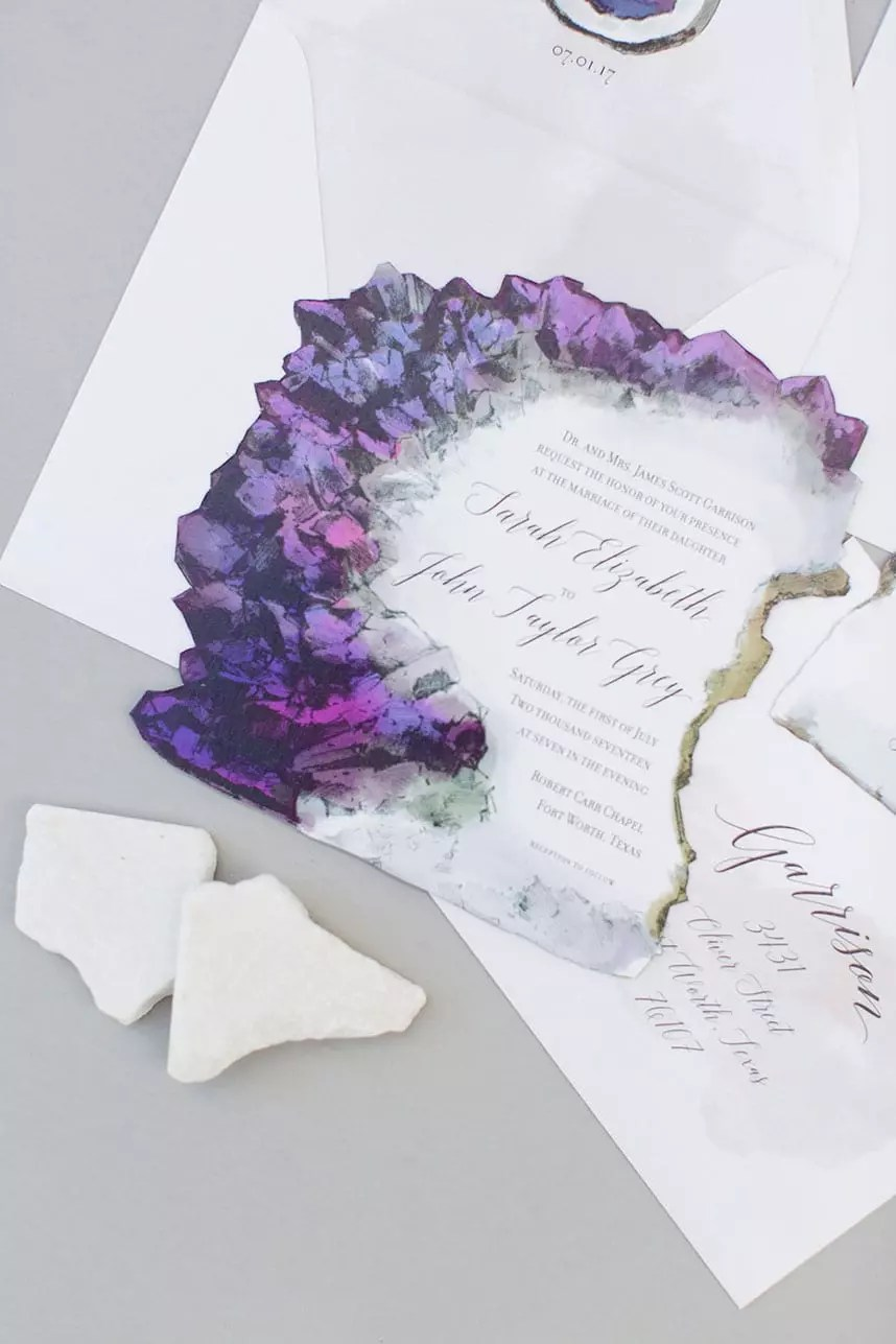 Illustrated Wedding Suite - Amethyst