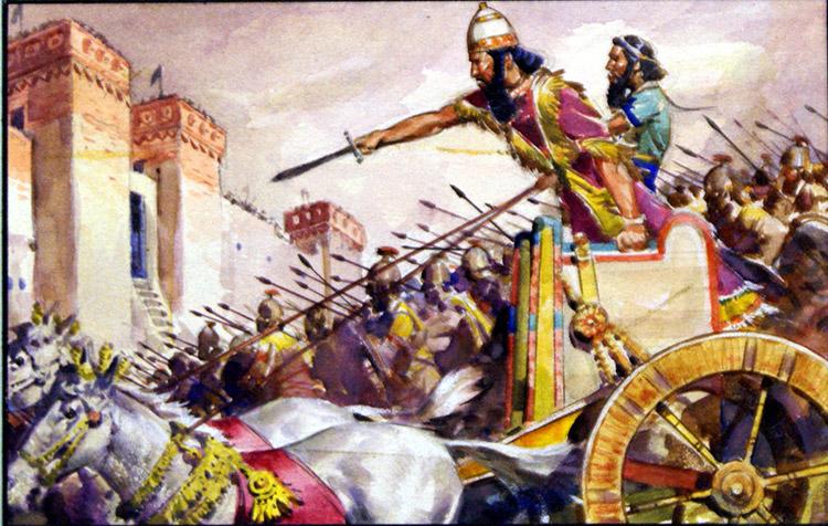 Siege of Jerusalem (Original) art by James E McConnell