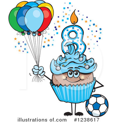 Cupcake Clipart #1238617 - Illustration by Dennis Holmes ... (400 x 420 Pixel)