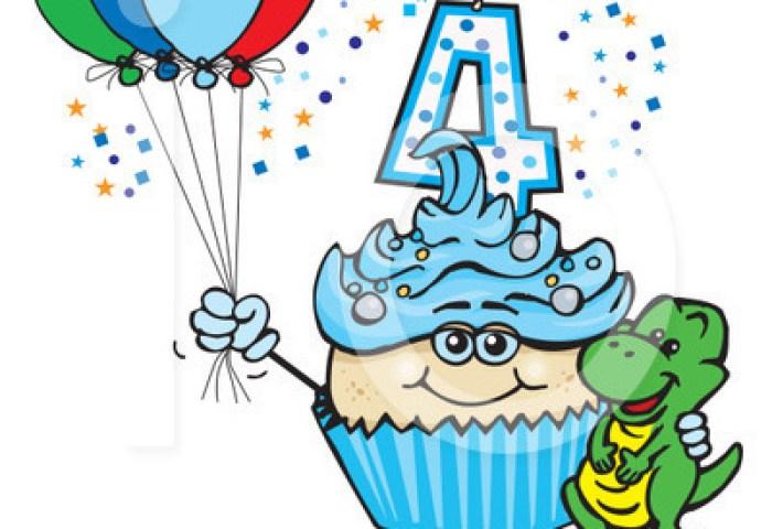 Birthday Cupcake Clipart 1230727 Illustration By Dennis Holmes