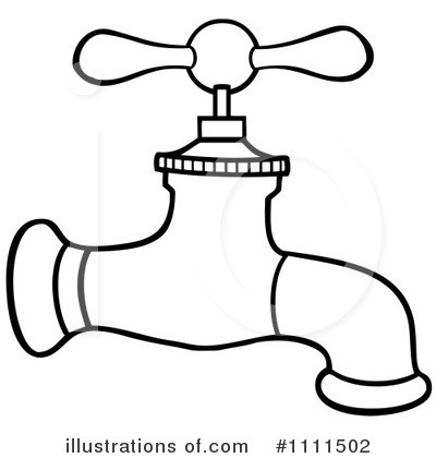 royalty free rf faucet clipart illustration by hit toon stock