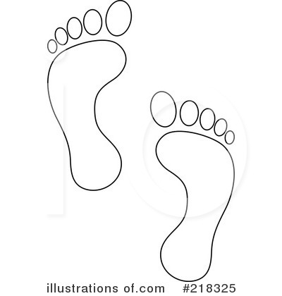 Royalty Free Rf Footprints Clipart Ilration 218325 By Pams
