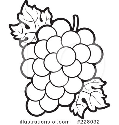 Grapes Clipart #228032 - Illustration by Lal Perera (400 x 420 Pixel)