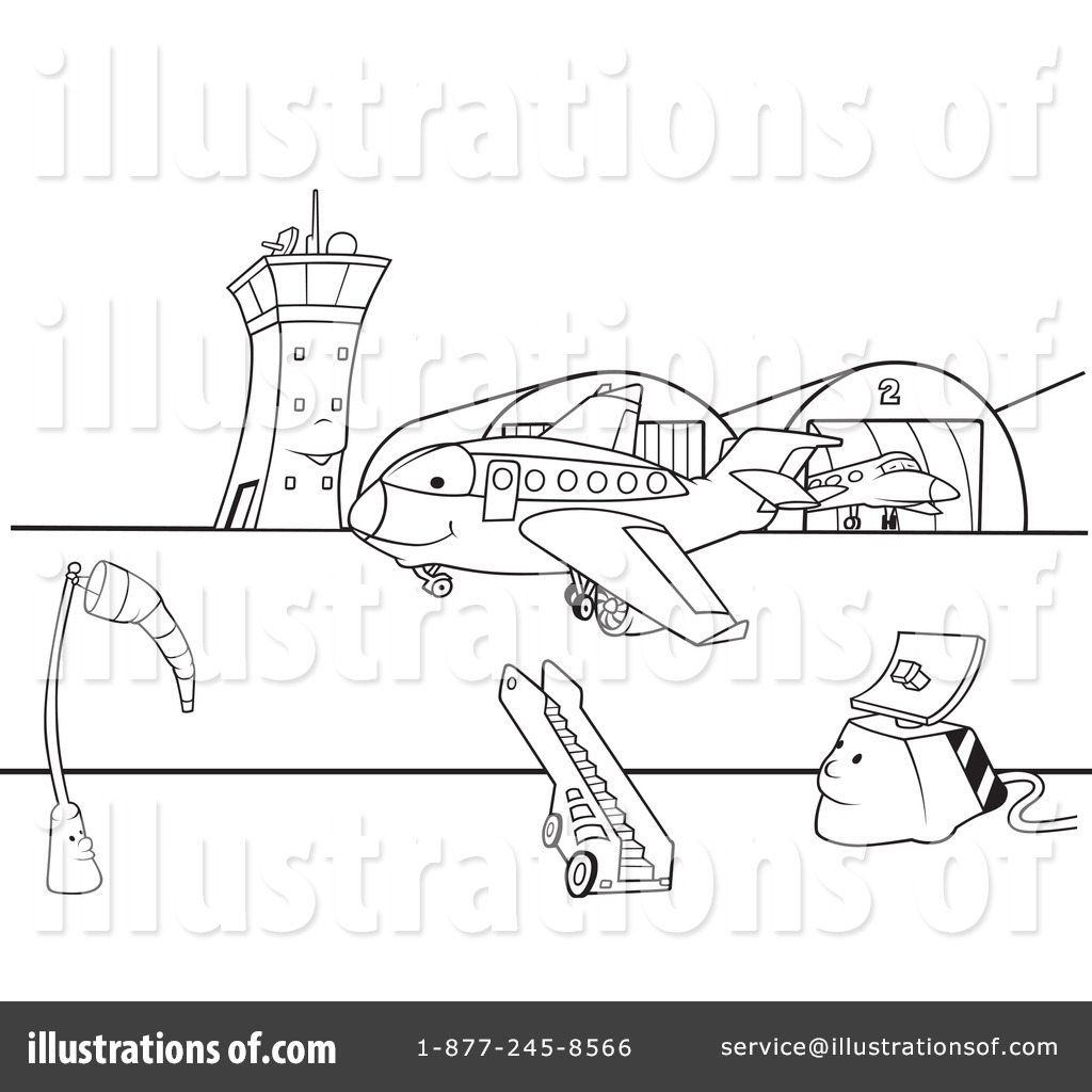 Airport Runway Coloring Pages Coloring Pages
