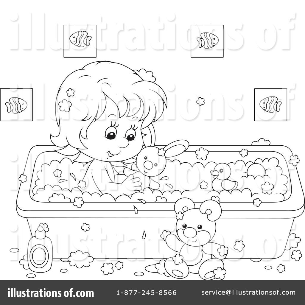 Bathing Clipart