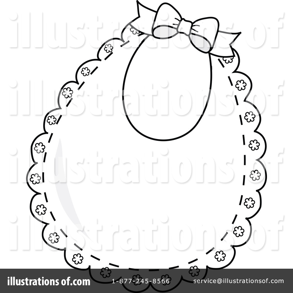 Baby Items Clipart Baby Girl Items Clipart 50 Bib Clipart Illustration By Pams Clipart