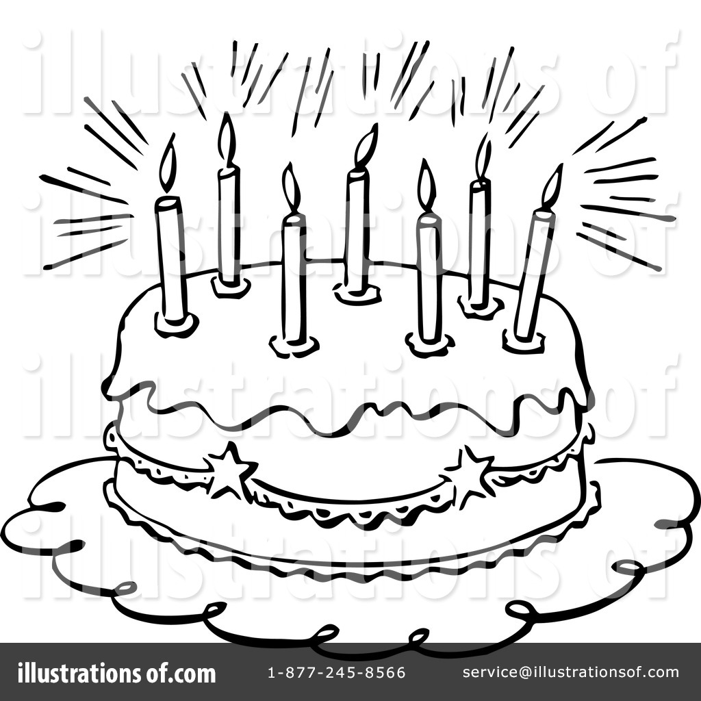 Birthday Cake Clipart 1156692 Illustration By Bestvector