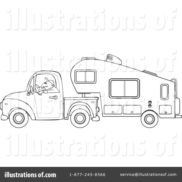 Camper Clipart #27 - Illustration by djart