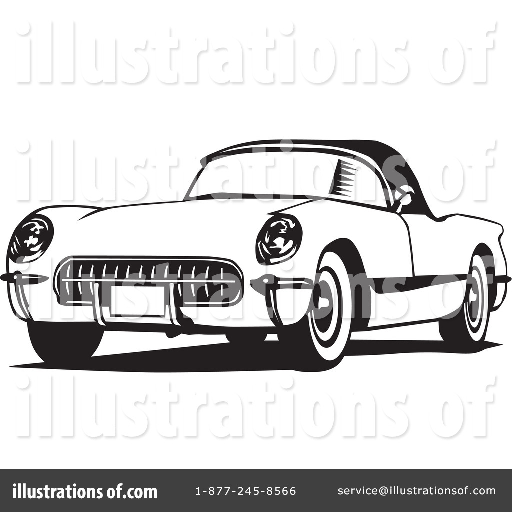 Chevy Corvette Clipart