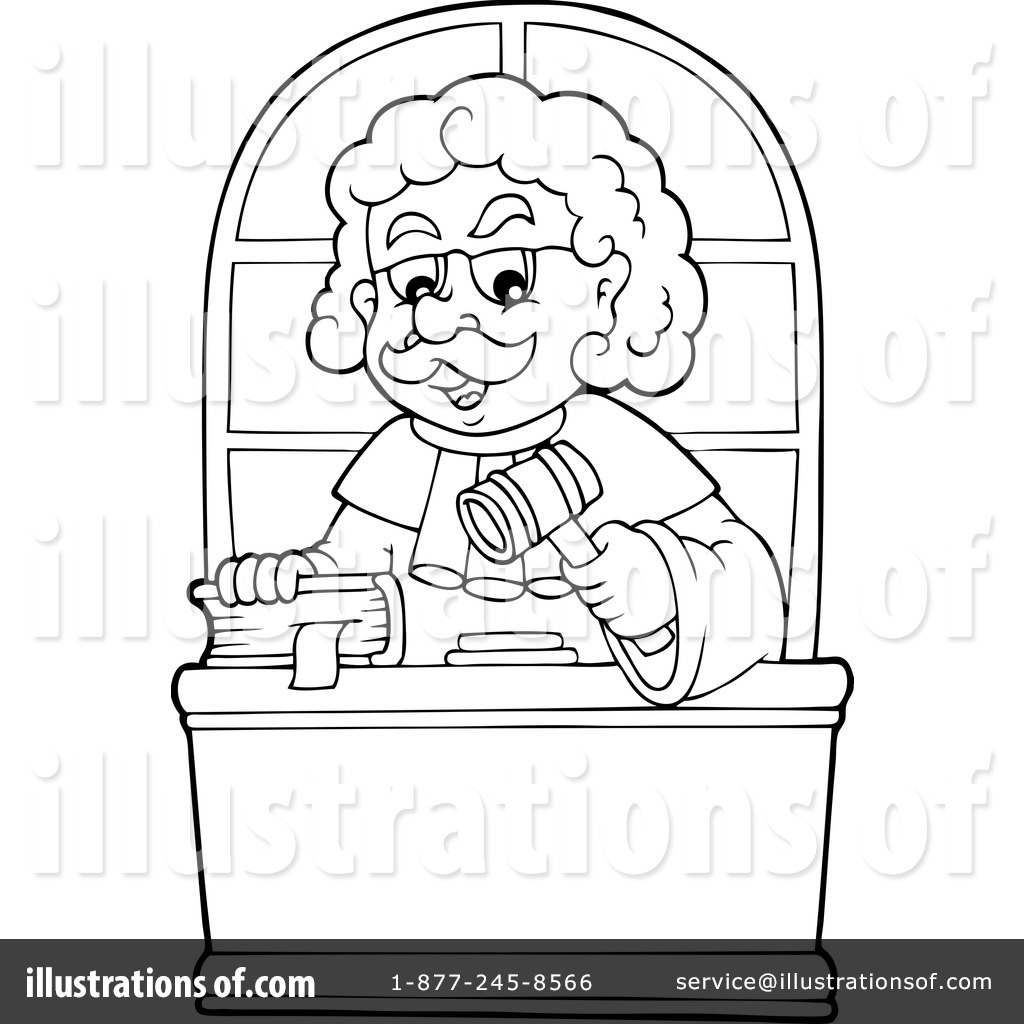 Judge Coloring Pages Coloring Pages
