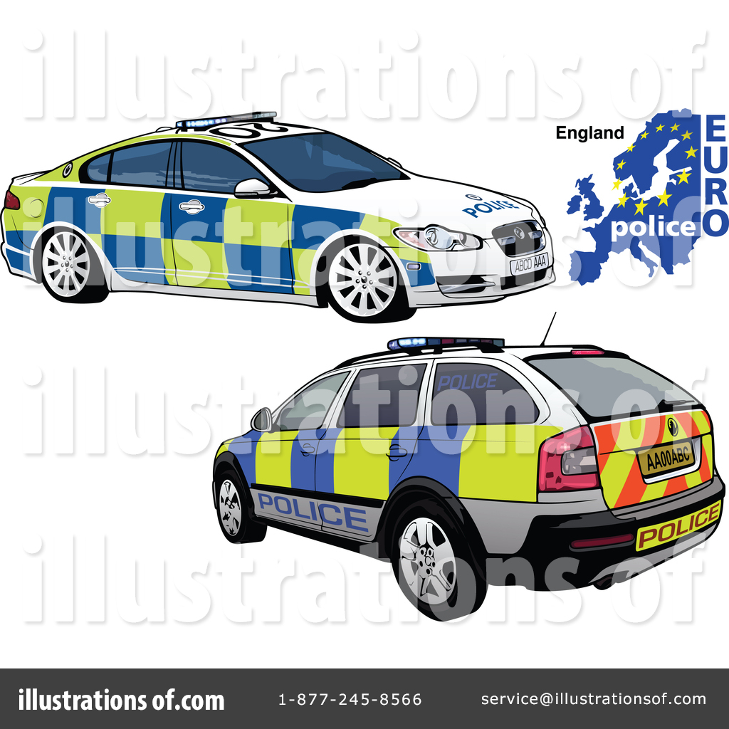 Police Car Clipart 1457272 Illustration By Dero