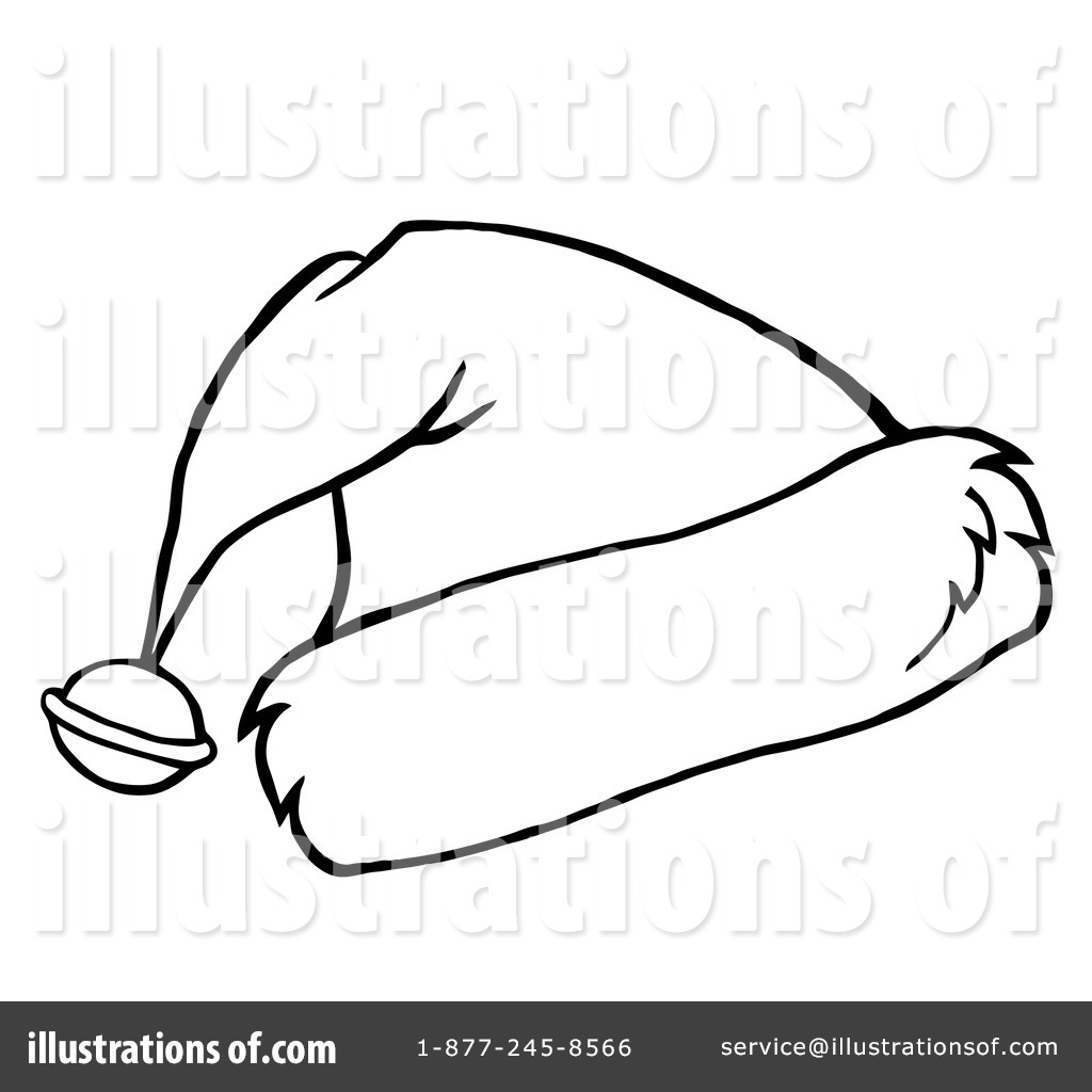 royalty free rf santa hat clipart illustration by hit toon stock