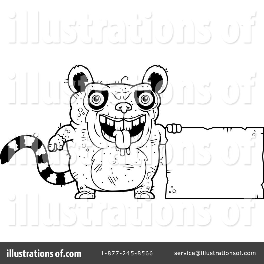 Ugly Lemur Clipart