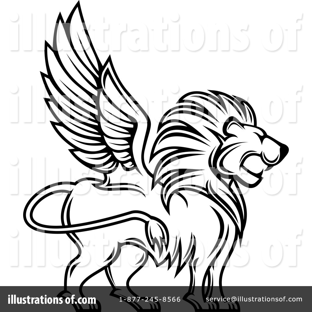 Winged Lion Clipart