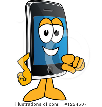 Smart Phone Clipart 1224507 Illustration By Toons4biz