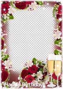 frame rose photoshop