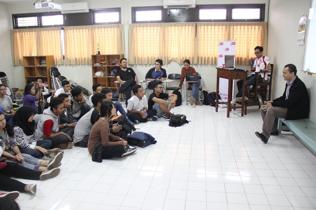 Mendengarkan sharing dari Dimas Muharam, tuna netra yang bisa membuat website, Kartunet.com
