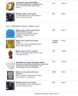 Furto in casa Cavani: trovati alcuni articoli su eBay