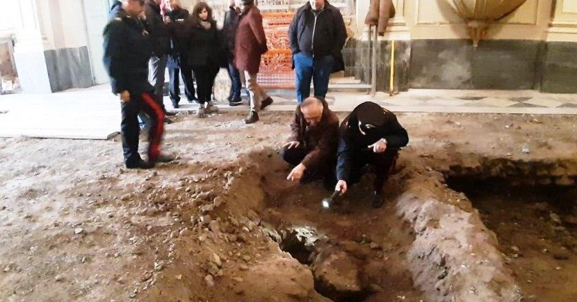 Bronte, scoperta una cripta sotto la Chiesa del Rosario