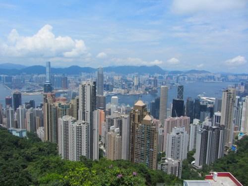 Panorama Hong Kong Victoria Peak