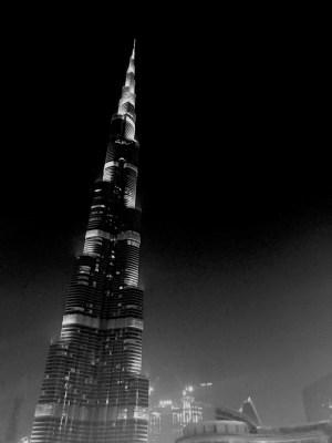 Butj Khalifa di notte