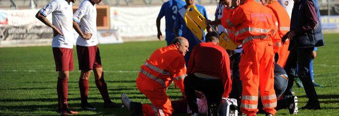 I soccorsi a Matias Cuffa (Foto Itzel Cosentino)