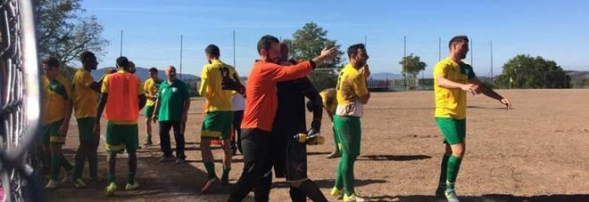 La gioia del Ginestra che ha battuto Passo Corese 2-1